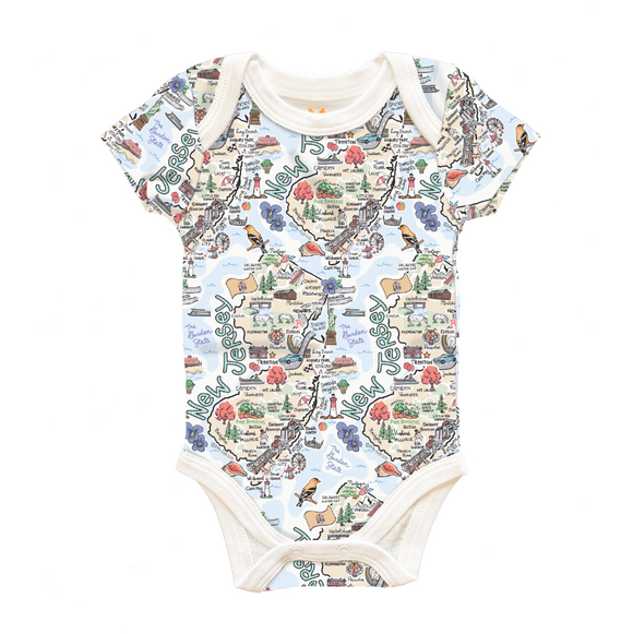 NJ Map Onesie - 6 to 12 Months