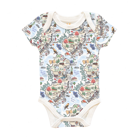 NJ Map Onesie - 3 to 6 Months
