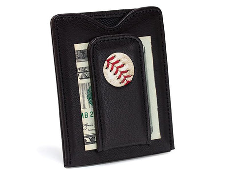 Phillies Game Used Baseball Money Clip Wallet