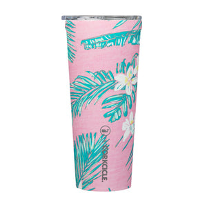 Pink Tropical Flowers Tumbler
