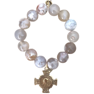 Mother Mary Agate Bracelet