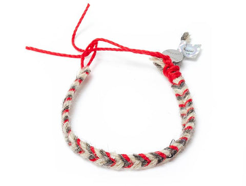 Red Sox Game Used Baseball Yarn Bracelet