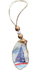 Sailboat Oyster Shell Ornament