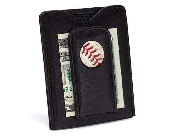 Yankees Game Used Baseball Money Clip Wallet