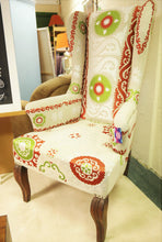 Load image into Gallery viewer, High back Queen Anne Chair
