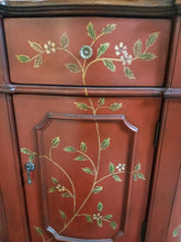 Load image into Gallery viewer, Vintage Dresser with floral detail