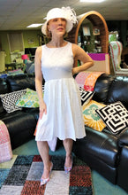 Load image into Gallery viewer, Lauren Bacall inspired white lace summer dress