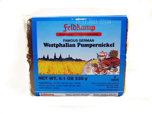 Feldkamp Dark (Westphalian) Pumpernickel bread, 8.1 oz.