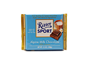Ritter Sport Alpenmilch (milk chocolate), 3.5 oz.