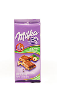 Milka Milk Chocolate with hazelnut, 3.5 oz.
