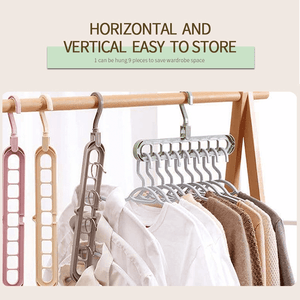 9 in 1 Plastic Closet Space Saving Clothes Hanger