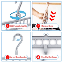 Load image into Gallery viewer, 9 in 1 Plastic Closet Space Saving Clothes Hanger