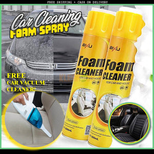 CAR CLEANING FOAM SPRAY (BUY 1 TAKE 1) + FREE VACUUM CLEANER