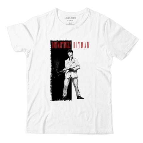 Don Mattingly White Hit Man Scarface Tee