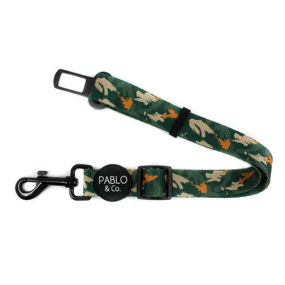 PABLO & CO - Camo Adjustable Dog Car Restraint