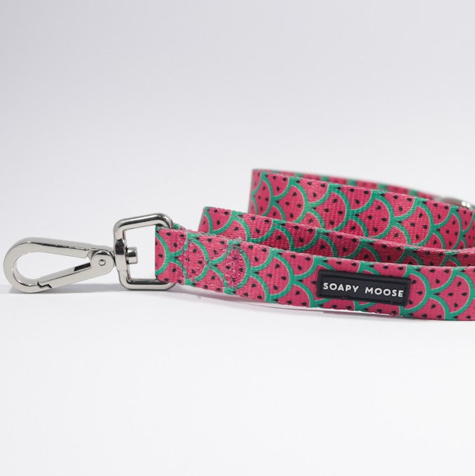 SOAPY MOOSE - Hot Pink Watermelon Double Sided Leash