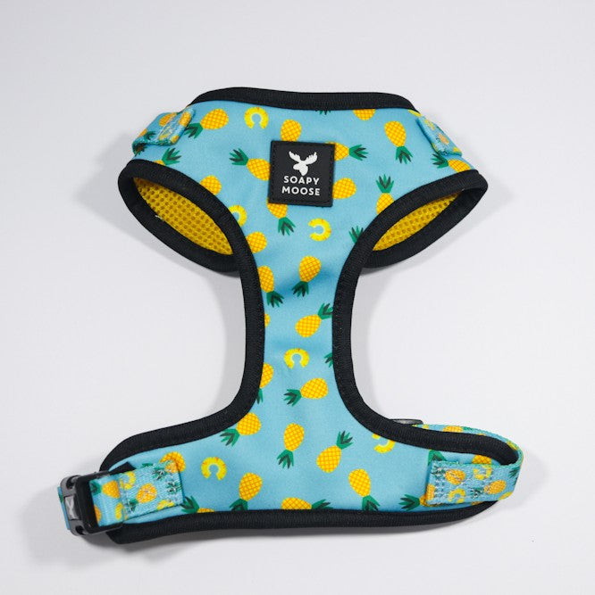 SOAPY MOOSE - Pineapple Slices Adjustable Dog Harness