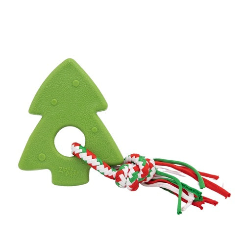 ZIPPY PAWS - Holiday ZippyTuff Teether Dog Toy - Christmas Tree