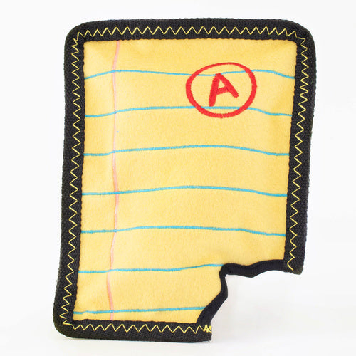 ZIPPY PAWS - Z-Switch Yellow Notepad Dog Toy