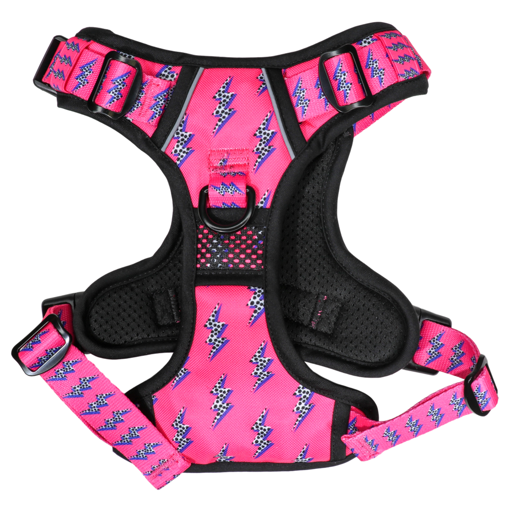BIG & LITTLE DOGS - Pink Lightning All Rounder Dog Harness