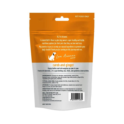 BELL & BONE - Superfood Dog Treats Carob and Ginger