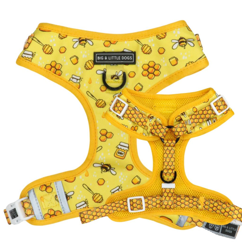 BIG & LITTLE DOGS - Bee-Hiving Adjustable Dog Harness