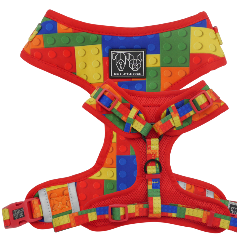 Fetch Connection - Big & Little Dogs Blocktastic Reversible Dog Harness
