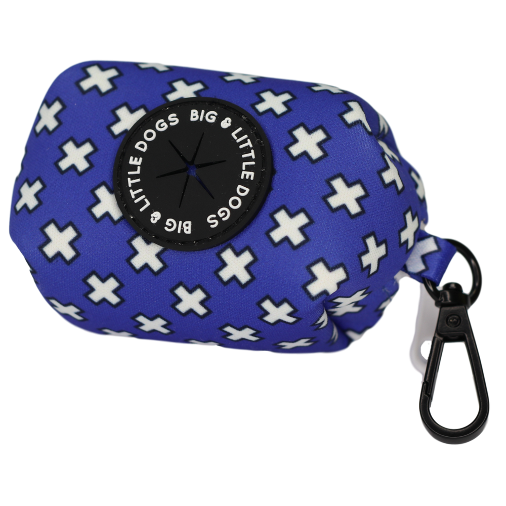 BIG & LITTLE DOGS - Blue X's Dog Poop Bag Holder