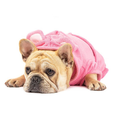 BIG & LITTLE DOGS - Dog Bath Robe: Bubblegum Pink