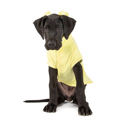 BIG & LITTLE DOGS - Dog Bath Robe: Lemon