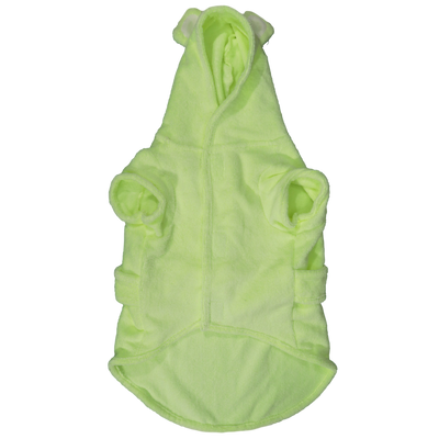 BIG & LITTLE DOGS - Dog Bath Robe: Lime