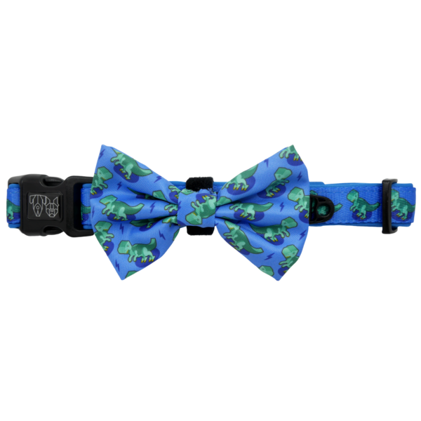 BIG & LITTLE DOGS - Rawr Dog Collar & Bow Tie
