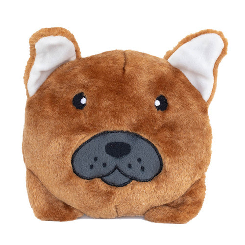 ZIPPY PAWS - French Bulldog Plush Squeaker Dog Toy
