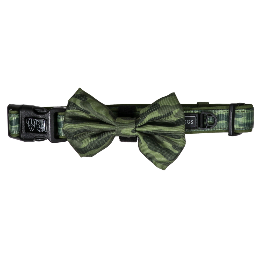 BIG & LITTLE DOGS - Camouflaged Dog Collar & Bow Tie