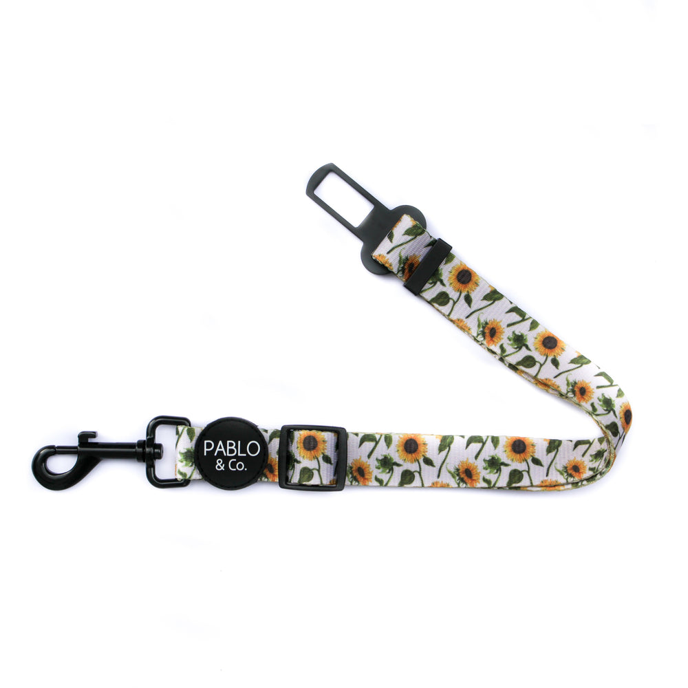 PABLO & CO - Sunflowers Adjustable Dog Car Restraint