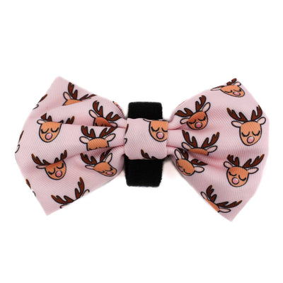 PABLO & CO - Pink Rudolph Christmas Bowtie