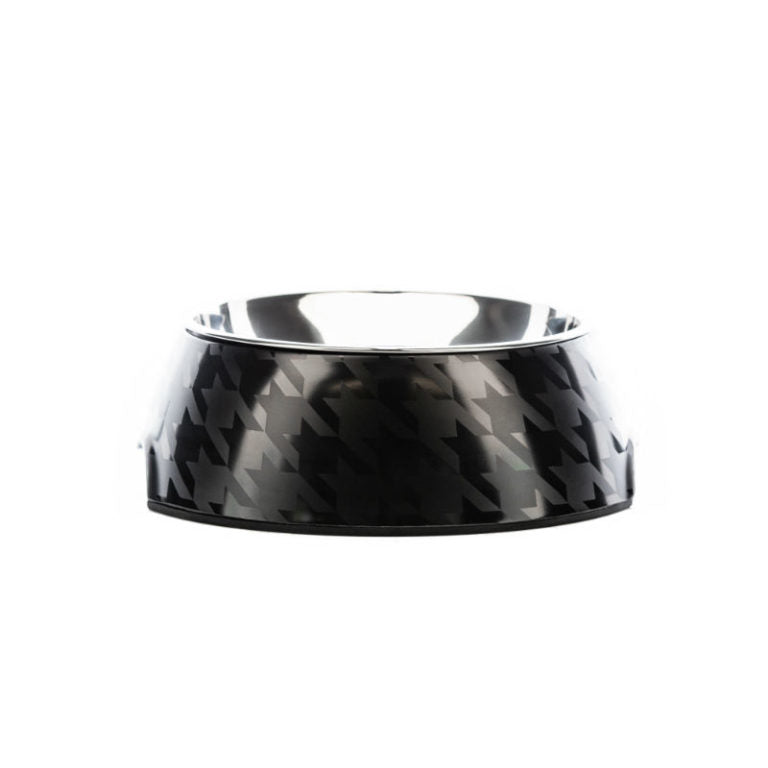 HOUNDZTOOTH - Chic Houndz Dog Bowl - Black