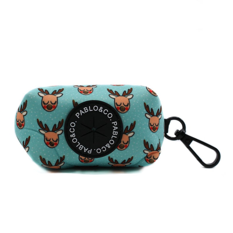 PABLO & CO - Mint Rudolph Christmas Dog Poop Bag Holder