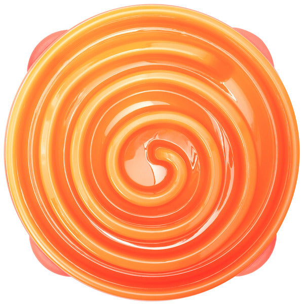 OUTWARD HOUND - Fun Feeder Slo-Bowl Orange