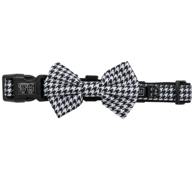 BIG & LITTLE DOGS - Houndstooth Squad Dog Collar & Bow Tie