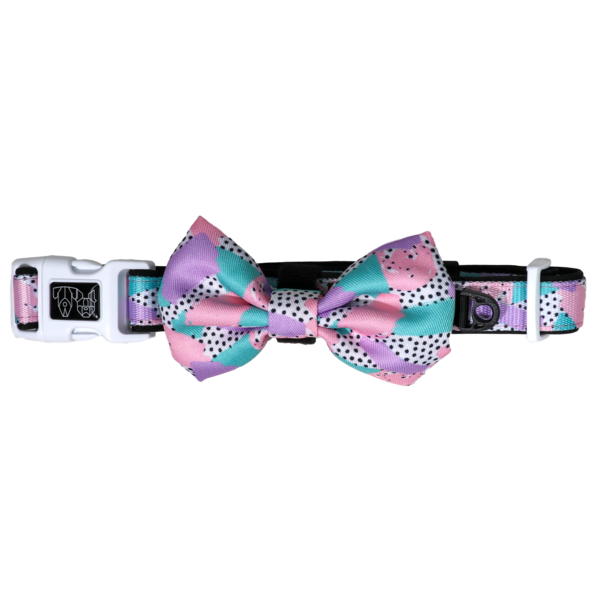 BIG & LITTLE DOGS - Pastel Dreams Dog Collar & Bow Tie