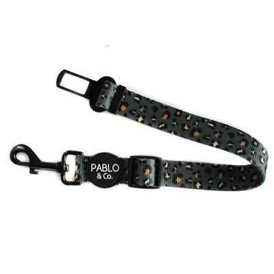 PABLO & CO - Khaki Leopard Adjustable Dog Car Restraint