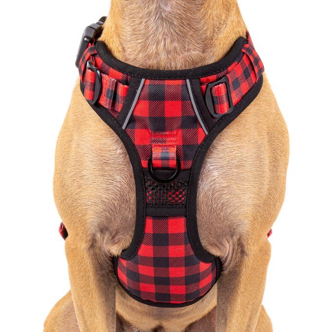 BIG & LITTLE DOGS - The All-Rounder Dog Harness: Plaid to the Bone