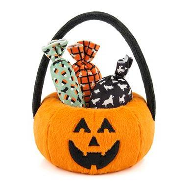 [LAST CHANCE] PLAY - Halloween Pumpkin Basket with 3 piece squeaker Dog Toy