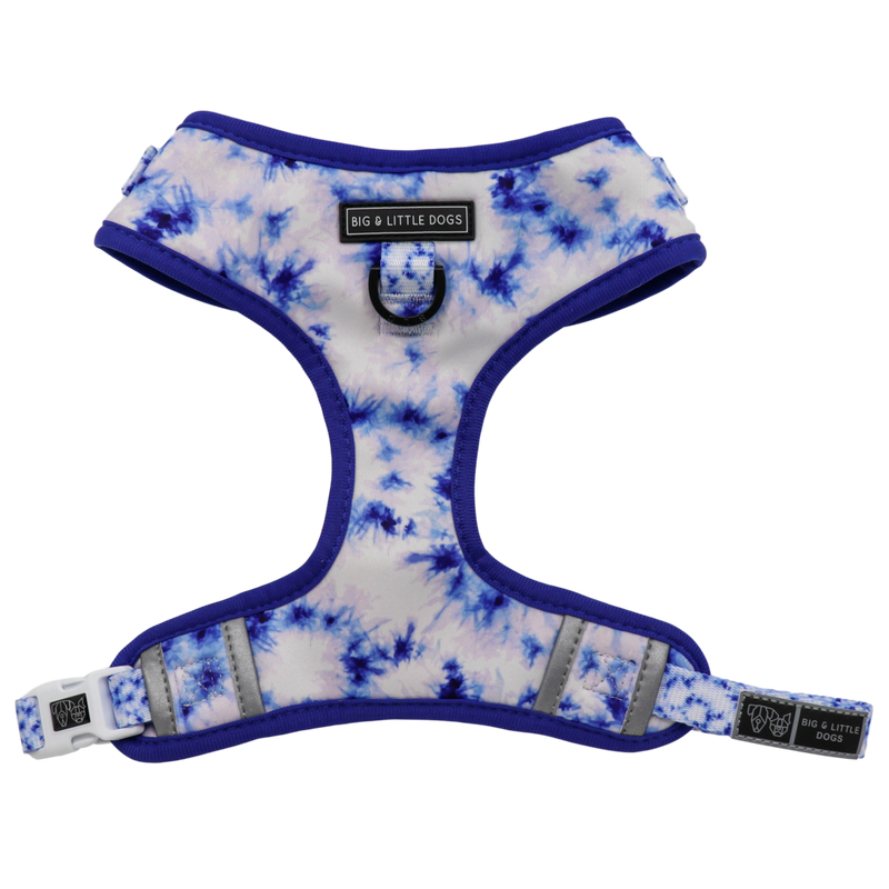 [LAST CHANCE] BIG & LITTLE DOGS - Tie Dye Blue Dog Harness