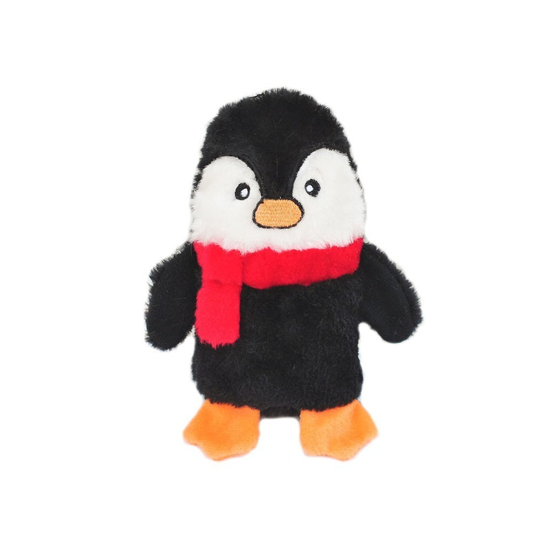 ZIPPY PAWS - Colossal Buddie Christmas Squeaker Toy for Dogs - Penguin Small