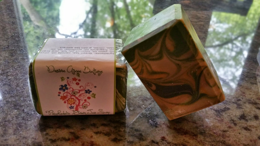 Psychedelic Green Tea Soap