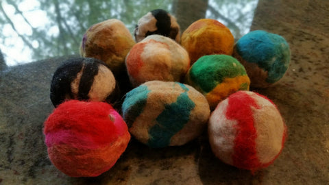Felted Soap Balls