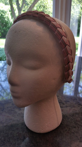 Preppy Stripe Braided Headband