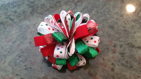Christmas Puff Hair Tie
